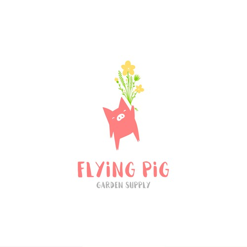Flying Pig Garden Supply Logo