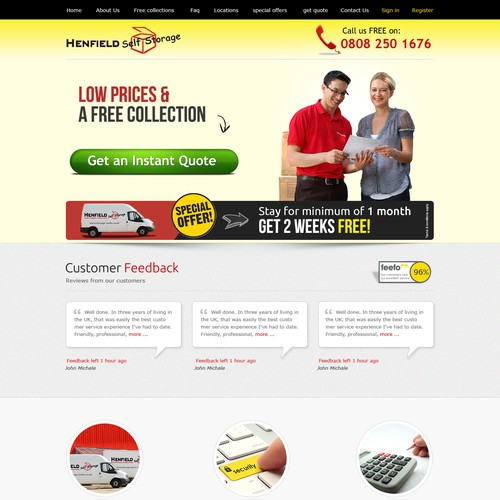 Create a winning landing page design for Henfield - Multiple winners