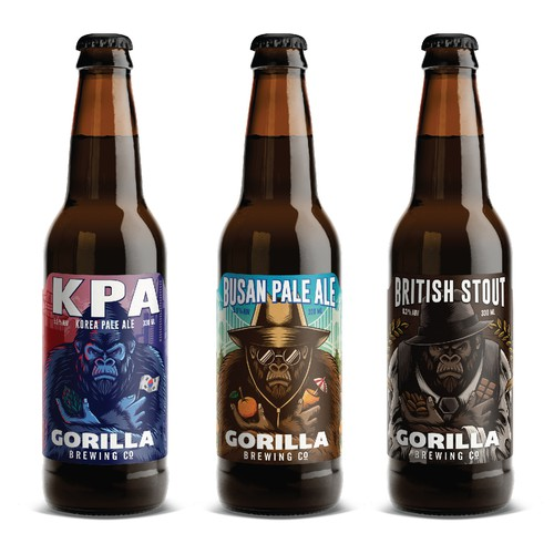 Gorilla brewing label design