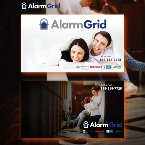 Alarm Grid Desktop Background Design