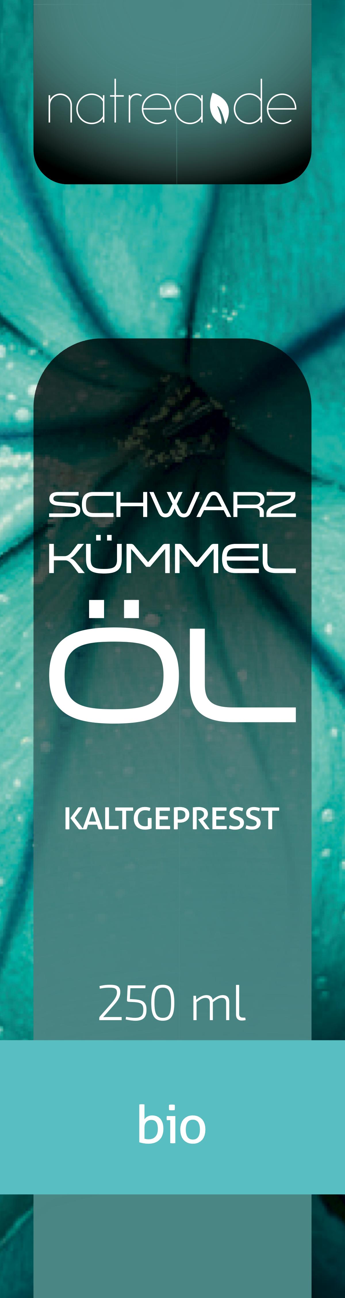 Label für Schwarzkümmelöl