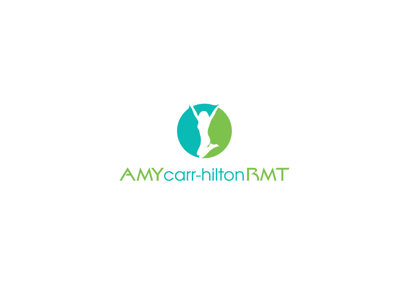 """Can you design a logo that shouts, """"See Amy Carr-Hilton RMT to feel your best""""?"""