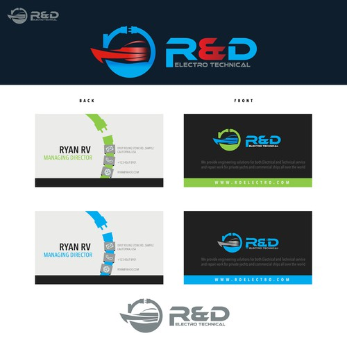 Create a brand package for an up and coming electro technical company