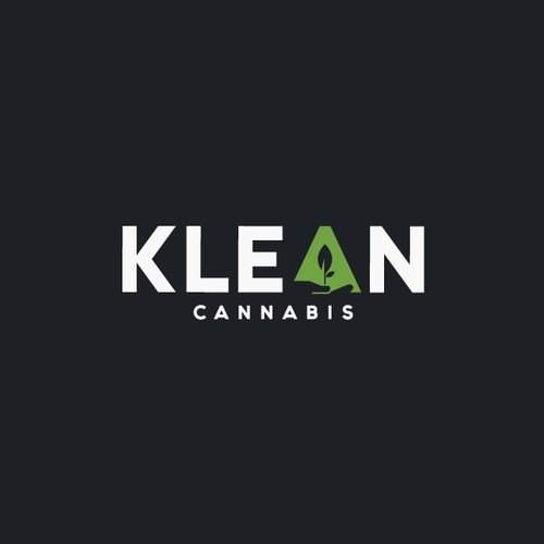 Awesome negative space logo done for Klean Cannabis