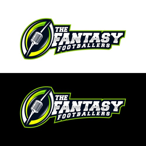 Fantasy Football Podcast Logo --- Clean, Modern, Sharp, Eye-Catching