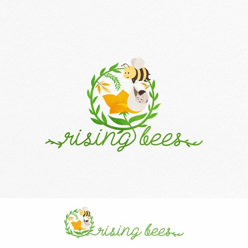 Logo for a baby-care/parenting brand