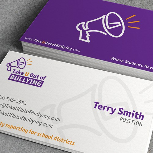 New logo and business card wanted for Take U Out Of Bullying