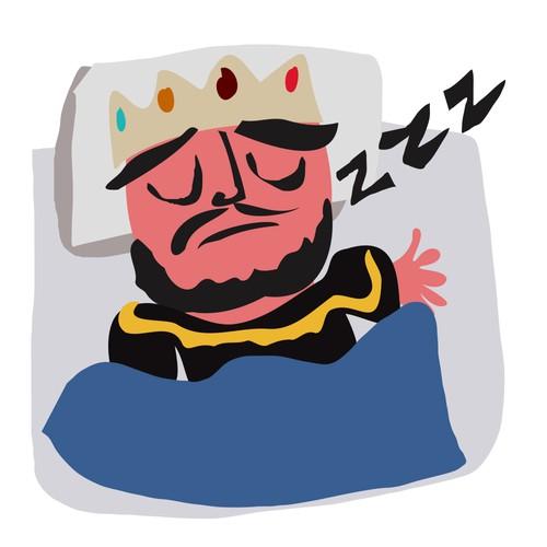 Sleepy King Illustration