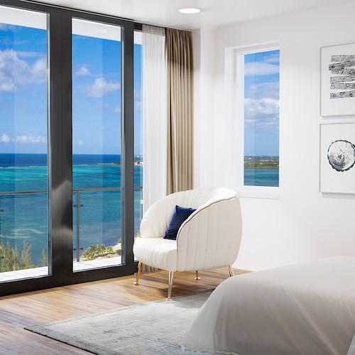 Bedroom interior design and visualisation