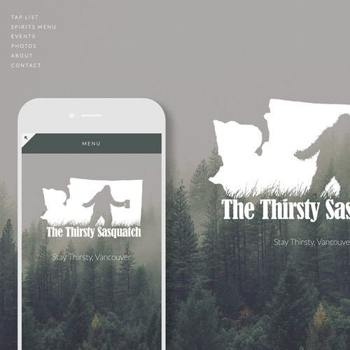 Simple Squarespace Website Design for Taproom, Bar