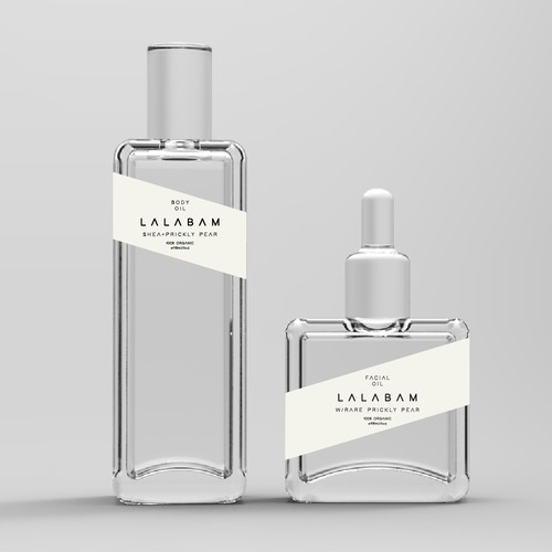 Luxury oils with trendy and minimalistic labels