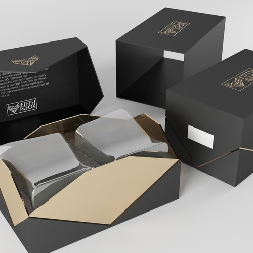 Edgy Package for Luxury Ccrystal Glass