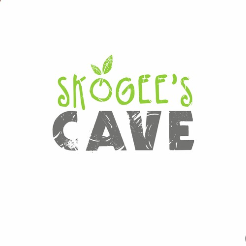 fun caveman logo for a paleo restaurant