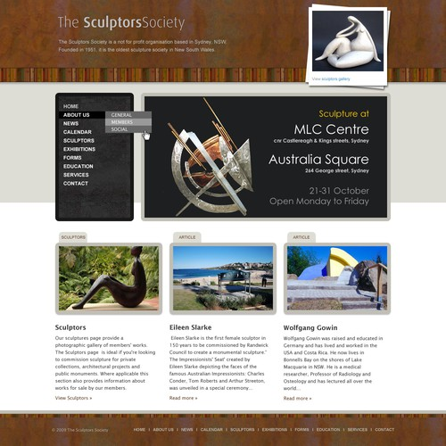Sculptors Society website