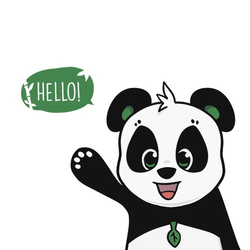 Cute and Energetic Panda Mascot, Pandpand