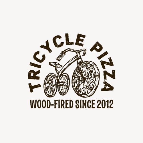 Tricycle Pizza Logo