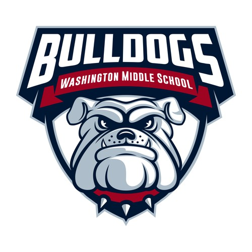 Bulldog logo for Washington Middle School