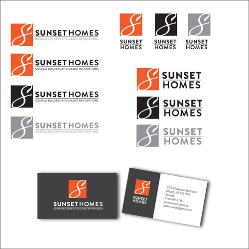 Logo design for home builders in Calgary, Canada.
