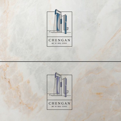 Minimalistic logo for CHENGAN Real Estate