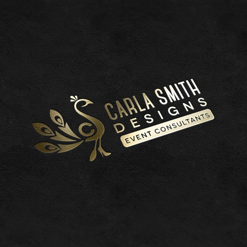 Golden logo mockup
