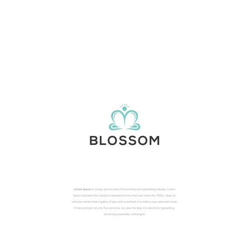 Blossoming Flower Logo with an Athletic Feel.