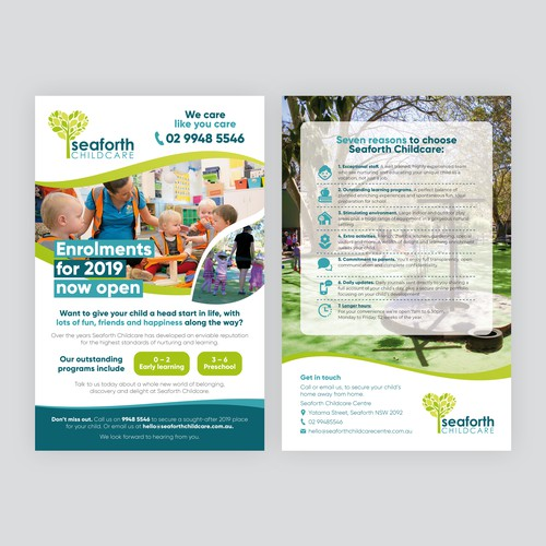 childcare flyer