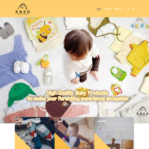 Banner for Baby Products website