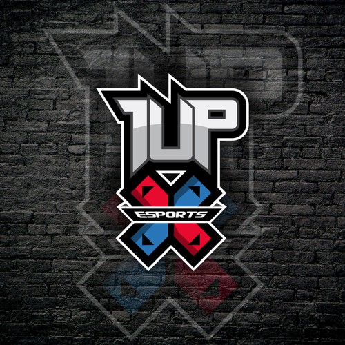 Edgy Logo concept for 1UPX Esports