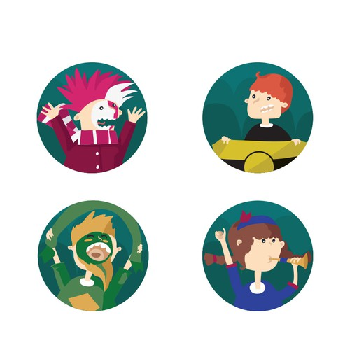 Set of avatars for sport website