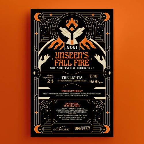 Unseen's Fall Fire Poster