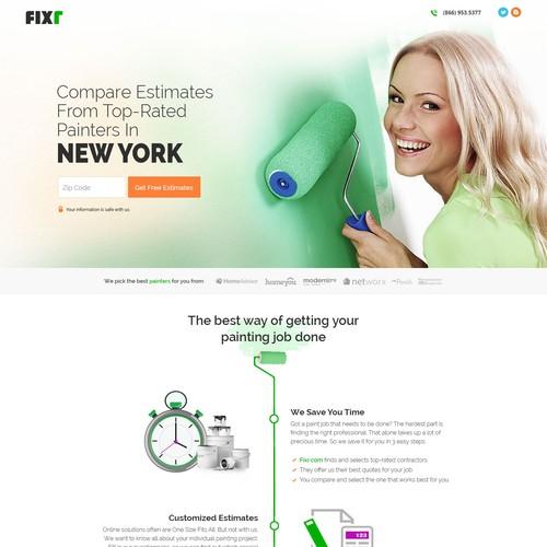 Plaster web page design