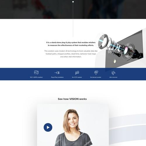 Vision. Web presentation