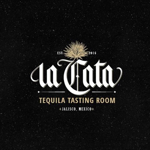 Lettering logo for La Cata.