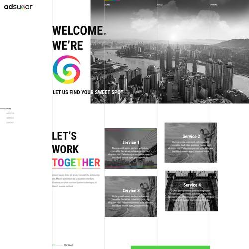 Responsive theme based unique web design