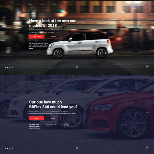 Trustworthy web site design for Car Leasing concept