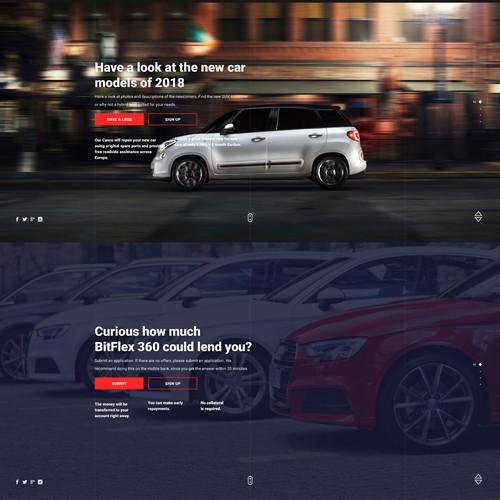 Trustworthy web site design for Car Leasing concept