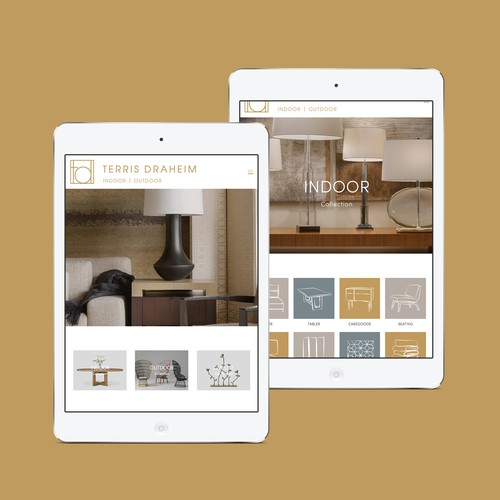 Website for a furniture showroom