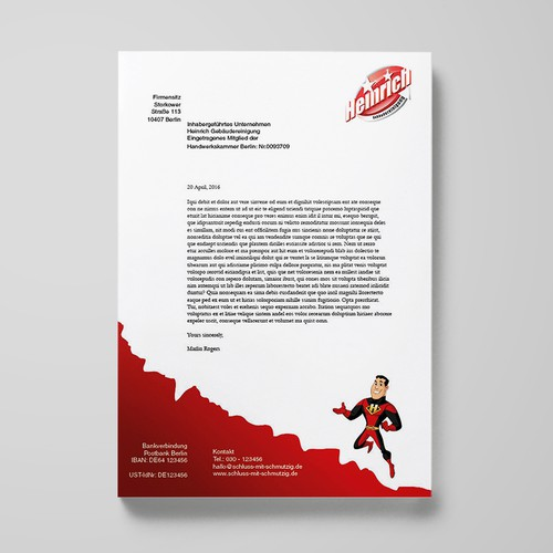 Letterhead for cleaning services
