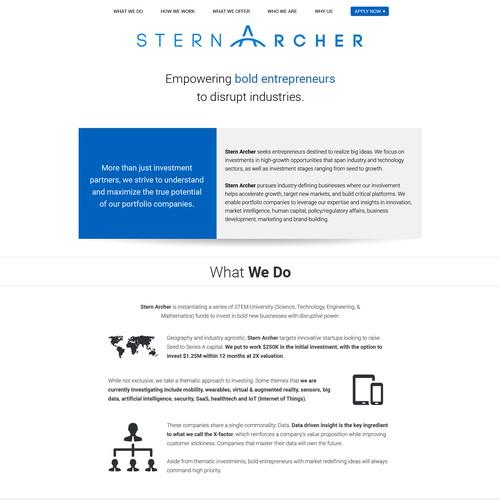 Web Page Design Entry