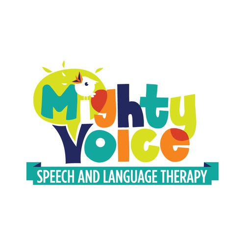 Colorful speech therapy logo