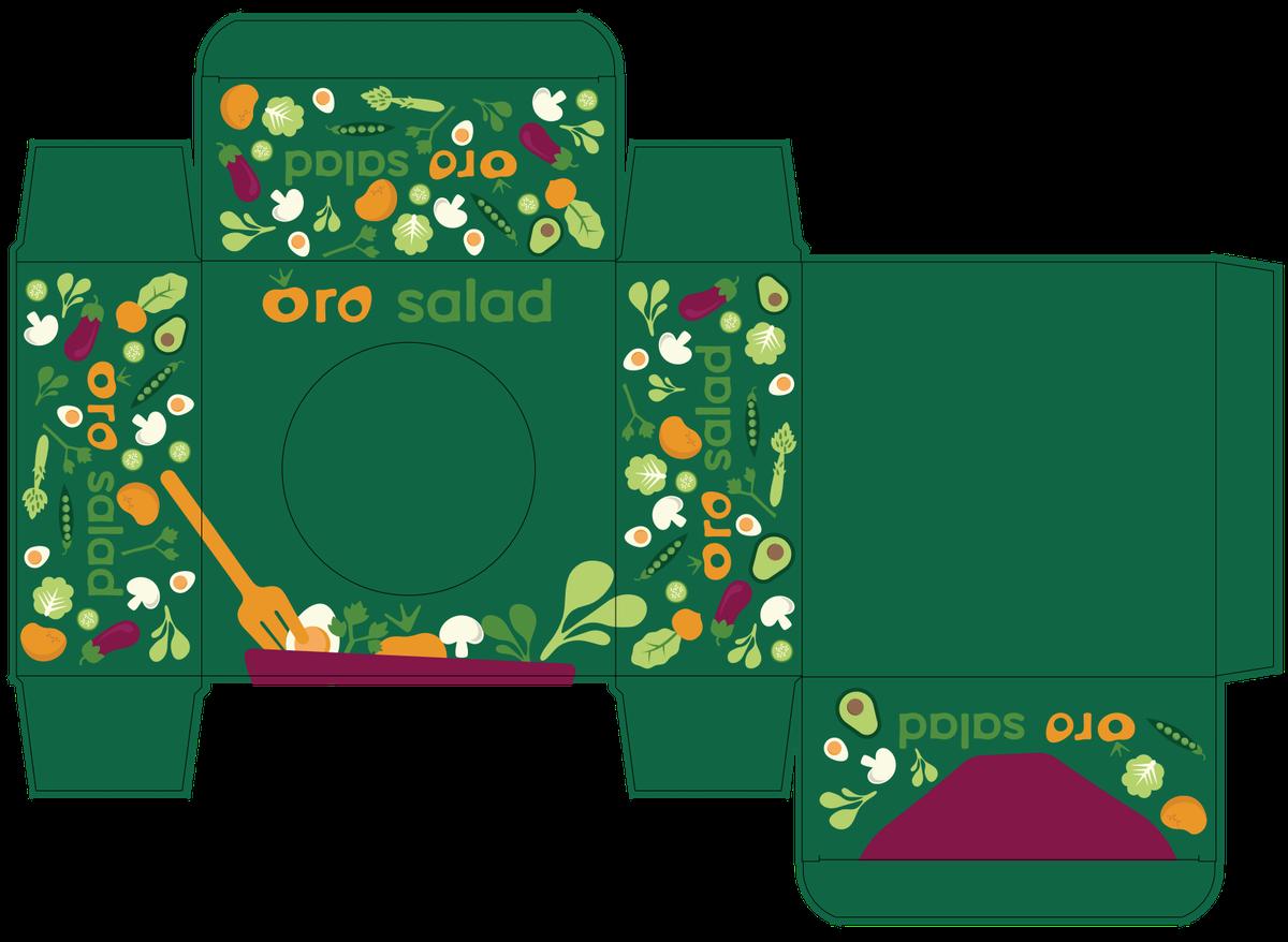 Oro Salad packaging