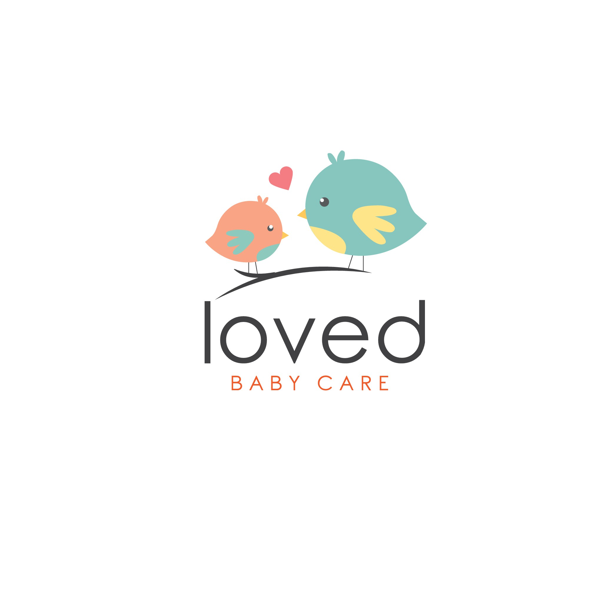 """Loved Baby Care"" needs a logo to make new moms feel confident their little one is safe and healthy"