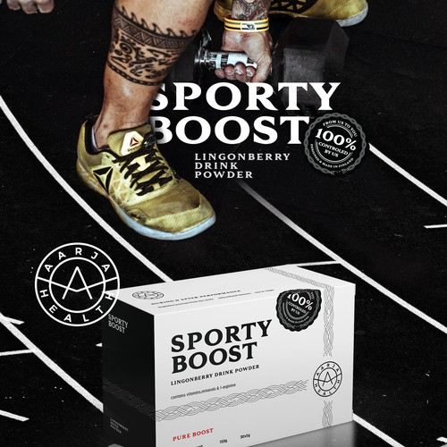 Bold Package design for a Supplement Brand