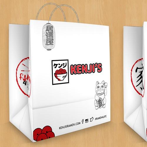 Kenji's Ramen & Grill To-Go Bags