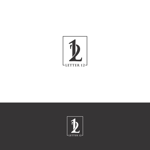 "Logo design for ""LETTER 12"" DTG printing company."