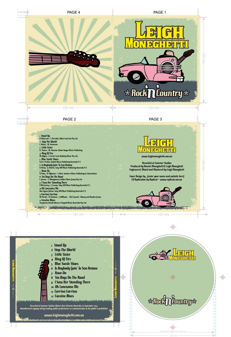 DESIGN A RETRO COUNTRY & ROCK 'N' ROLL ALBUM COVER