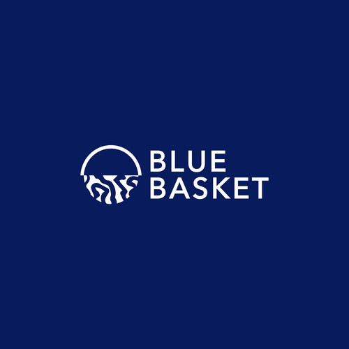 Minimal and clean logo design for Blue Basket