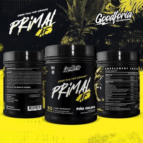 Sport Nutrition Label Design