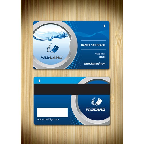 Create a loyalty card design for FasCard