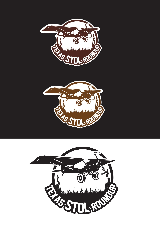 Texas STOL Roundup hat logo design